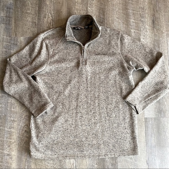 Eddie Bauer Men's 1/4 Zip Fleece Pullover Size XL